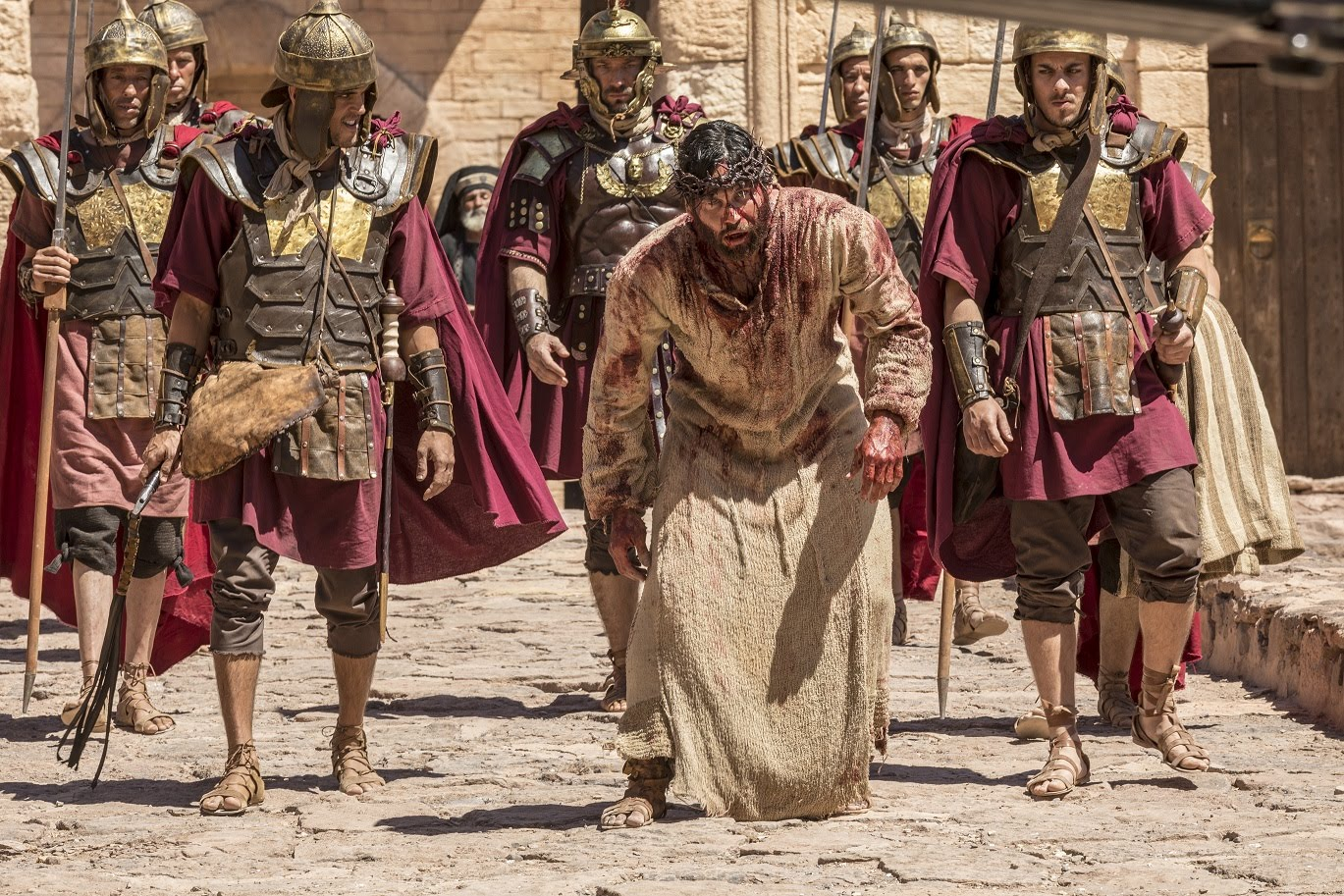 Jesus (Dudu Azevedo) na Via Crucis