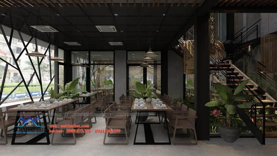 thiết kế nhà hàng dẹp, giá hợp lý 2