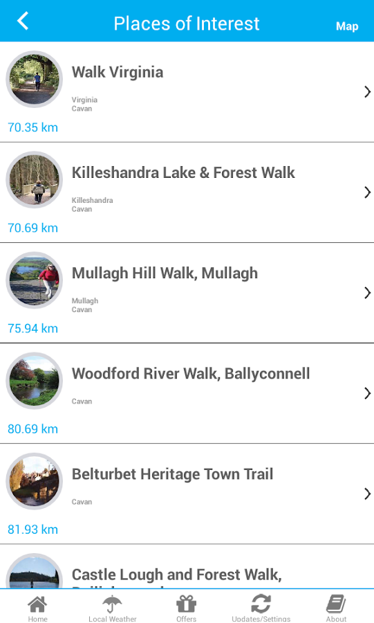 Cavan App- screenshot