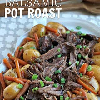 Easy Balsamic Crock pot Pot Roast.