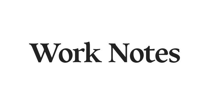 Work Notes Logo
