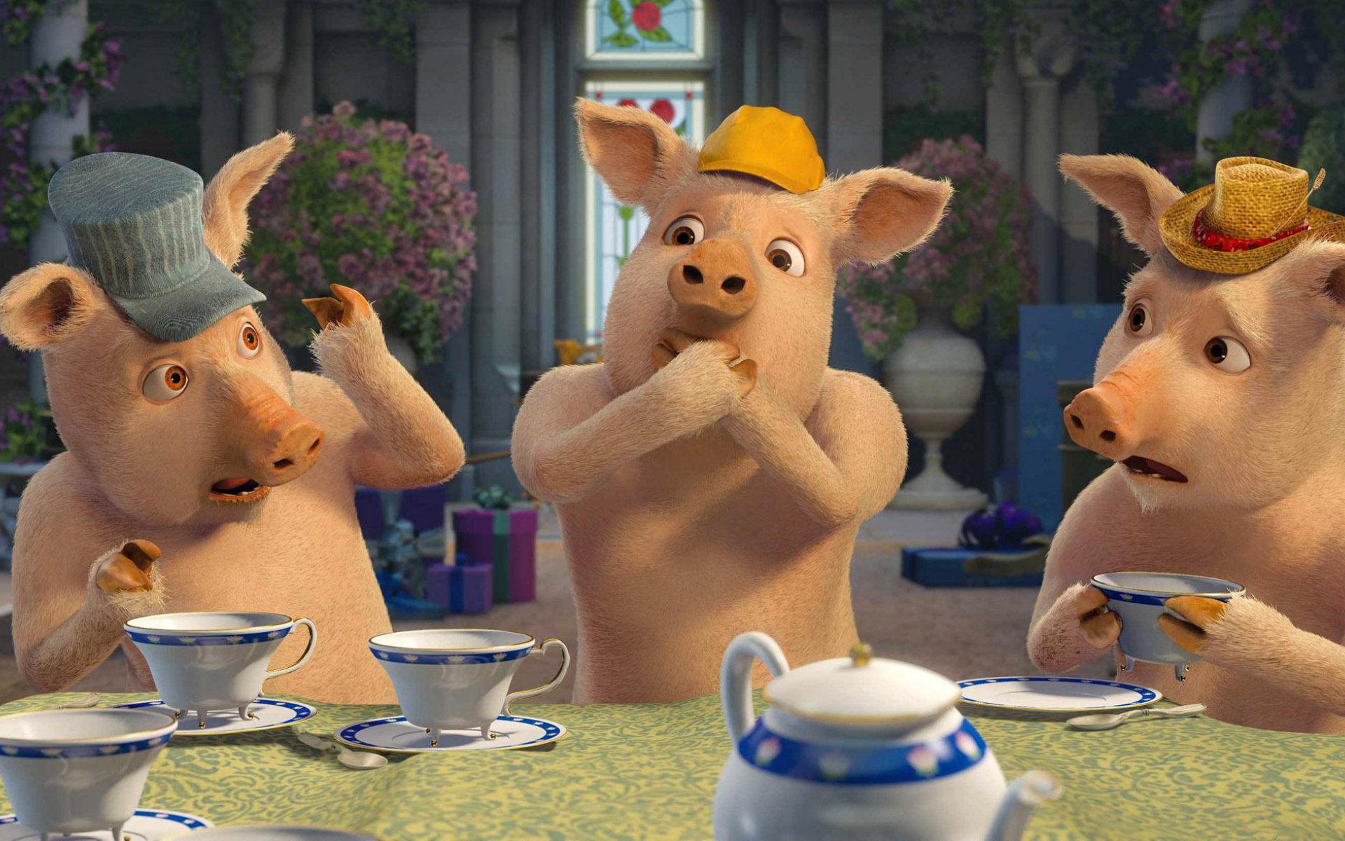 shrek three little pigs