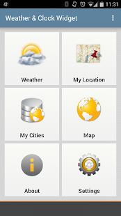 Weather & Clock Widget Android- screenshot thumbnail