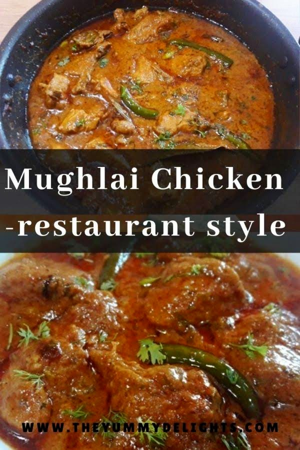Mughlai chicken cooked in rich, creamy and mildly spicy onion-tomato gravy