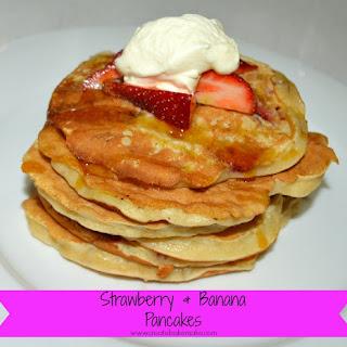 Strawberry and Banana Pancakes.