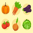Vegetables-Learn, Spell, Quiz, Draw, Color & Games icon