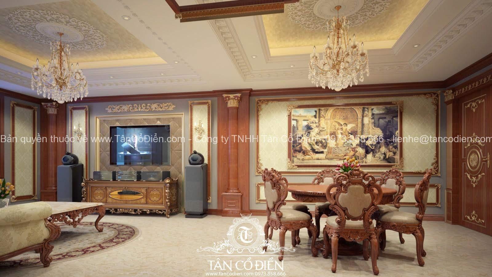 Phòng cách mang phong cách tân cổ điển hoàn mỹ