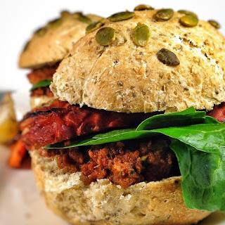Tempeh Burgers With Sun-Dried Tomato Pesto [Vegan]