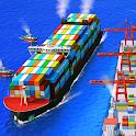 Sea port: Ship Simulator & Strategy Tycoon Game icon