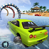 Water Surfer Beach Car Driving