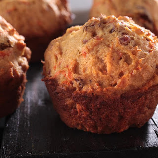 Honey Carrot and Date Muffins.