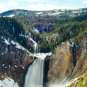 Lower Falls of the Yellowstone River by Thomas Jones - Landscapes Waterscapes ( yellowstone, waterscape, yellowstone national park, waterfall, wyoming, infinityprimephotography, landscape )