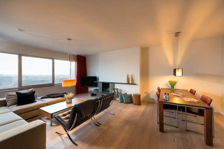 Living area at Amstelveen apartment