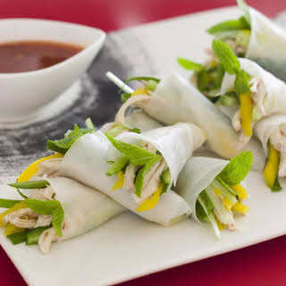 Chicken and Mango Summer Rolls.