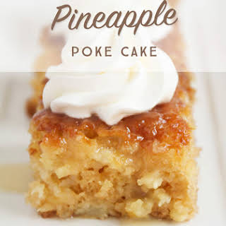 Easy Pineapple Poke Cake.