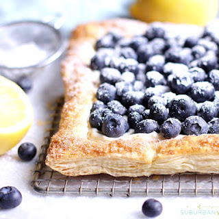 Heavenly Blueberry Tart with Puff Pastry Recipe