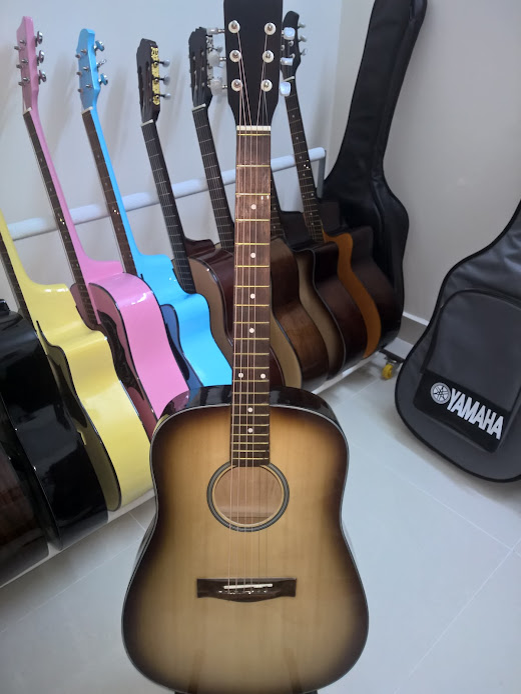 Acoustic guitar DVE70D sơn rìa