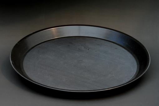 Dienblad rond antislip huren - zwart