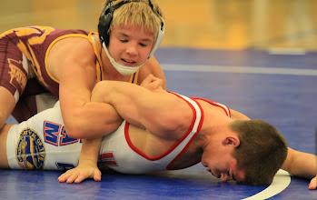 Photo: 106 pounds - 1st: Dante` Rodriguez (Grand Island) won by decision over Cameron Sykora (Border West) (Dec 4-2)