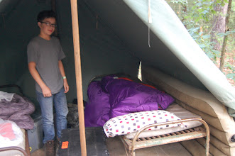 Photo: Dabbs - is that an air mattress in your tent!!?!!?