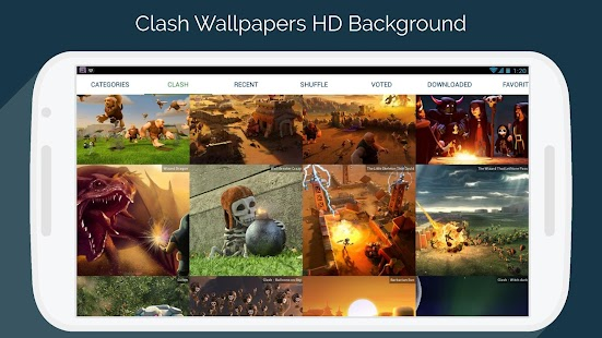 Clash Wallpapers HD - Funny Layouts - náhled