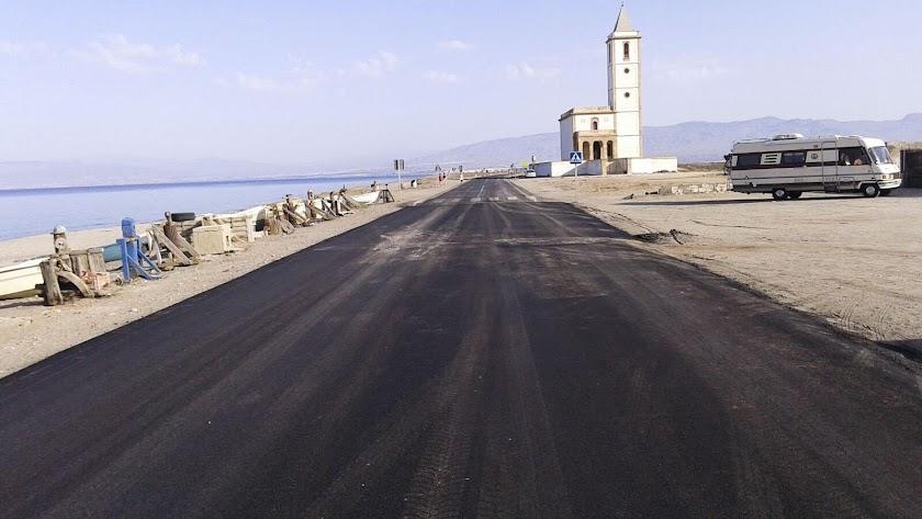 Cortes intermitentes de tráfico en Cabo de Gata