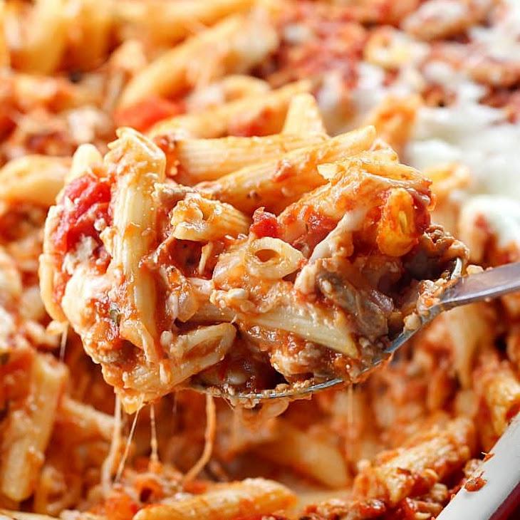 Skinny Cheesy Pasta Bake Recipe