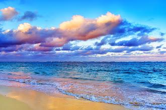 Photo: Sunset on beach, The Royal Suites Turquesa by Palladium