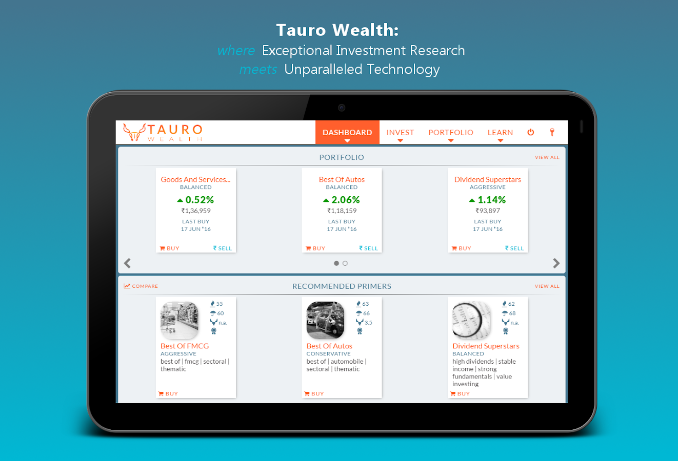 Tauro Wealth - Invest in India- screenshot