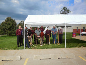 Photo: Groundbreaking for the new Truck & Heavy Equipment facility, June 2013.