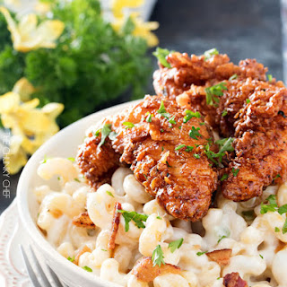 4 Cheese Mac And Cheese With Honey Pepper Chicken #Recipe