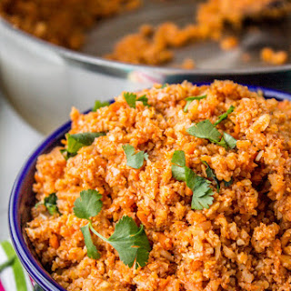 Spanish Cauliflower Rice (to eat with Mexican Food)