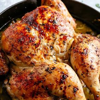 Lemon Garlic Roast Chicken Recipe