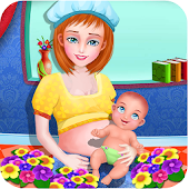 Woman Cute Baby Care Games