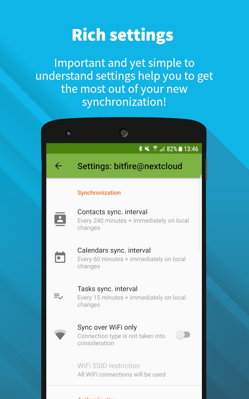 DAVx⁵ – CalDAV/CardDAV Client Screenshot 3