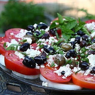 TOMATO PLATTER with OLIVES & FETA Recipe