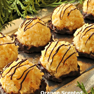 Orange Scented Coconut Macaroons