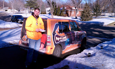 Photo: Pop-A-Lock Locksmith Minneapolis during the winter