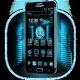 Blue Neon Tech Launcher icon