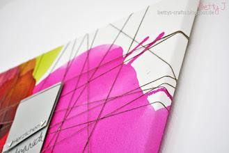 Photo: http://bettys-crafts.blogspot.com/2015/09/memoboard-aus-leinwand.html