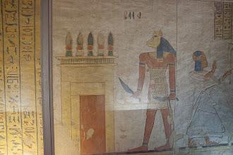 Photo: QV44 Tomb of Khaemwaset, weird guardian
