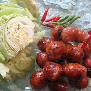 Thai pork sausage Isan style (Sai grok I-san)