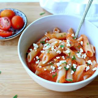 Roasted Red Pepper Garlic Pasta Sauce.