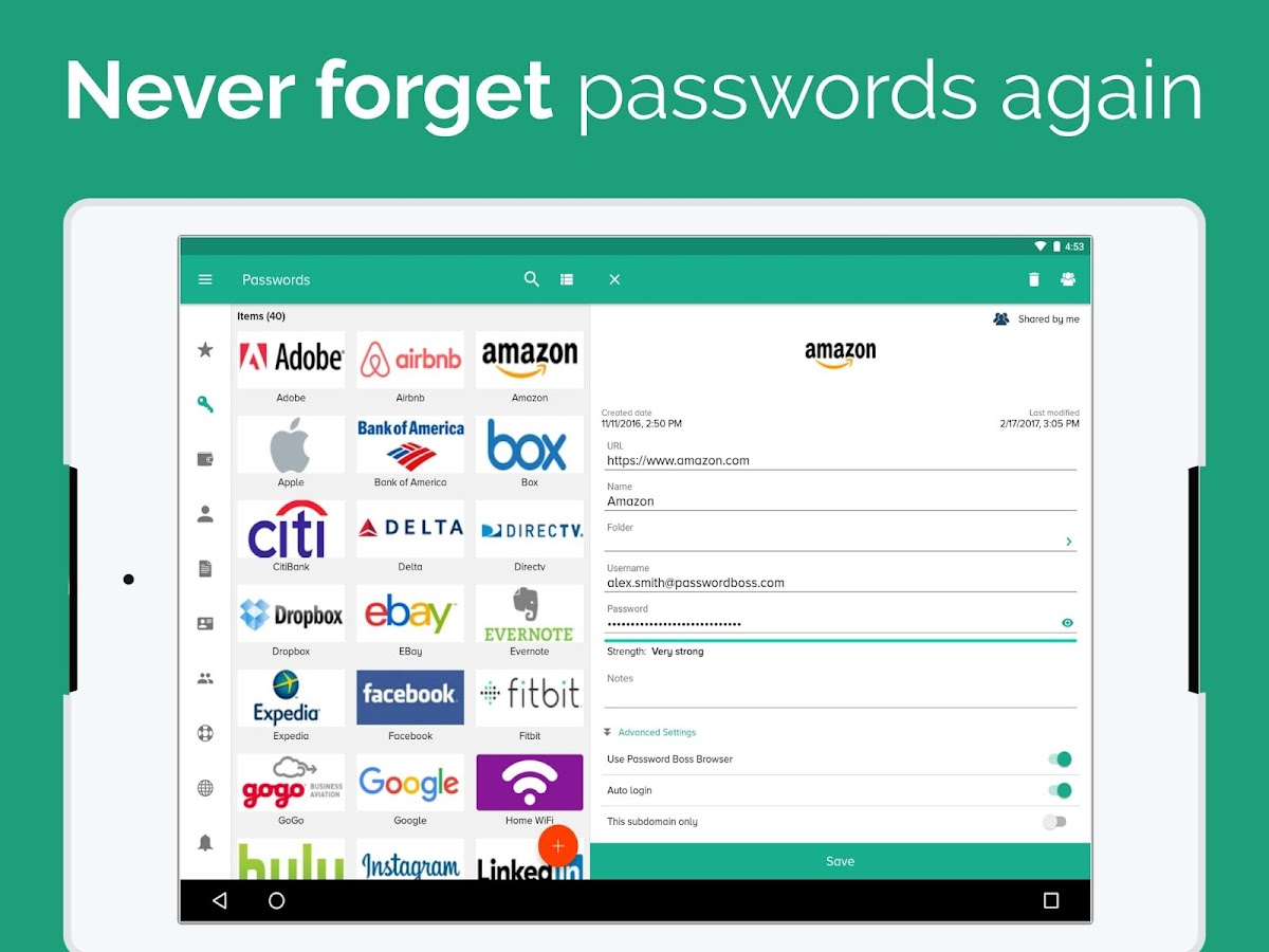 Password Boss Password Manager- screenshot