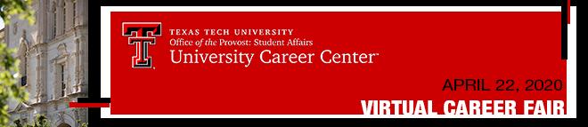 Texas Tech Virtual Career Fair Banner