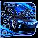 Neon Blue Sports Car Keyboard Theme for PC Windows 10/8/7