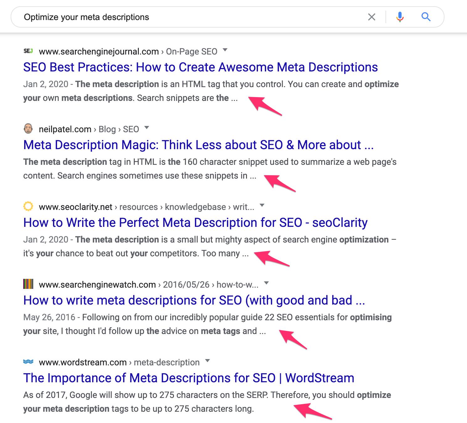 examples of meta descriptions