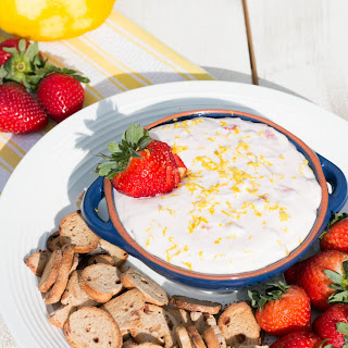 Lemon Strawberry Cheesecake Dip