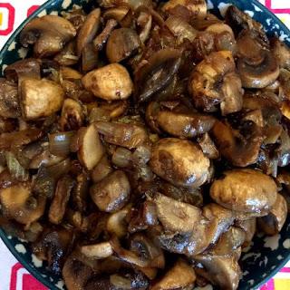 Sauteed Mushrooms And Onions.