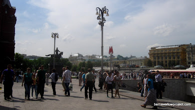 Photo: Area outside Red Square--everything is huge!